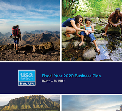 Cover of the FY 2020 Business plan