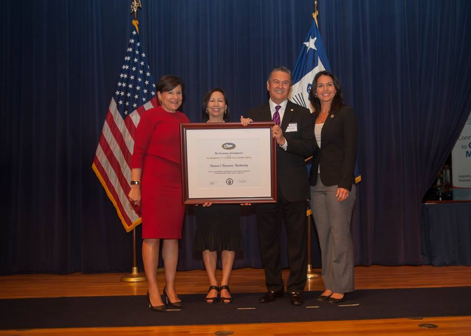 "Hawaii Tourism Authority Earns President's ""E"" Award for"