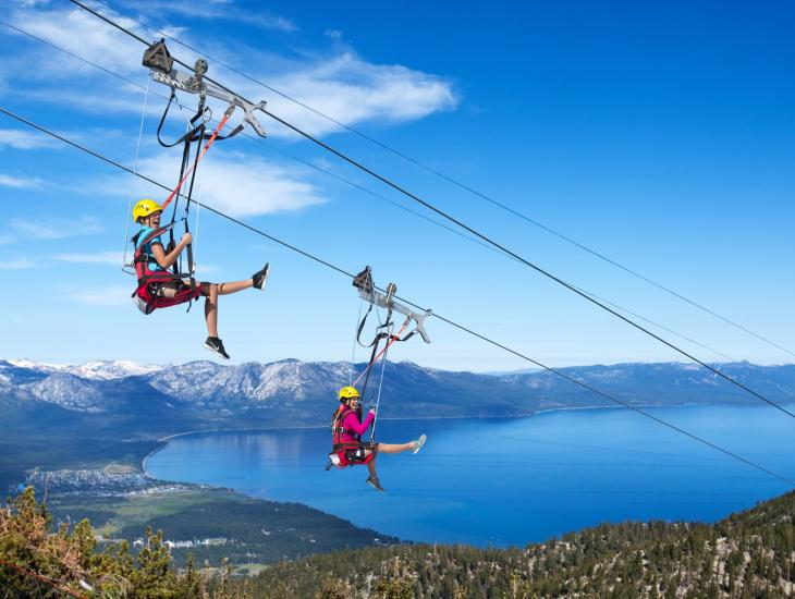 Lake Tahoe, Epic Discovery, Zip Line View