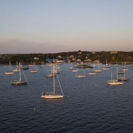 View of Rhode Island's boat harbor