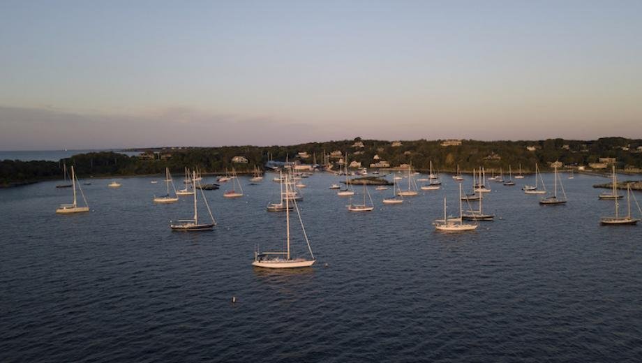 View of Rhode Island's boat harbor