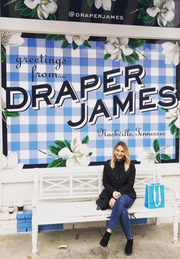 Cayleigh Farrell at the Draper James store in Nashville