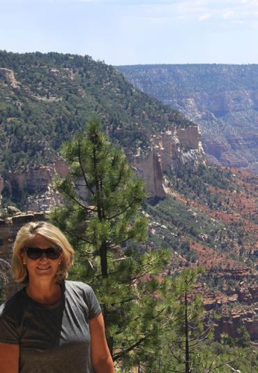Jackie Ennis at North Rim, Grand Canyon