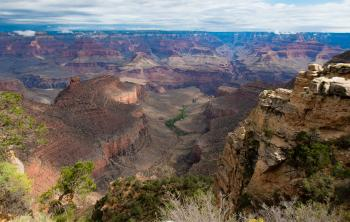 View of the Grand Canyon in Arizona from a high vantage point