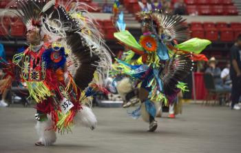 Native Americans performing a traditional dance in Oklahoma