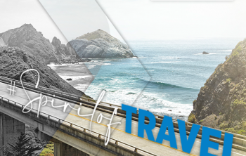 U.S. Travel Association's Spirit of Travel theme for National Travel & Tourism Week and the view of a highway near coast