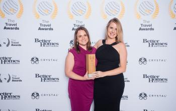 Travel Awards 2019 reception with trophy