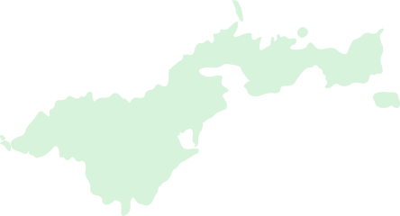 An hovered outline map of the American                                     Samoa islands