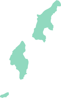 An outline map of the Northern Mariana Islands