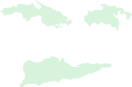 An hovered outline map of the U.S. Virgin Islands
